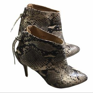 L'INTERVALLE Snake Skin Leather Heel Made In Spain